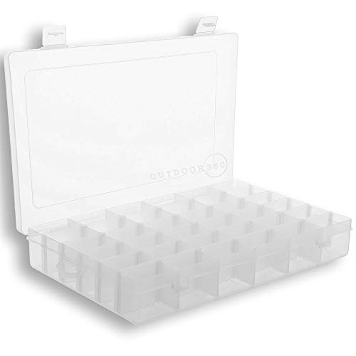 Plastic Organizer Box with Dividers - 36 Compartment Organizer - Bead Organizer - Best for Bead Storage, Felt Board Letters, Fishing Tackle, Loom Bands
