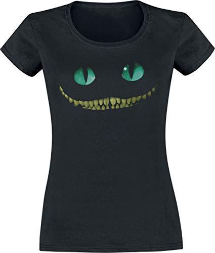 Alice im Wunderland Grinsekatze - Lächeln Frauen T-Shirt schwarz M