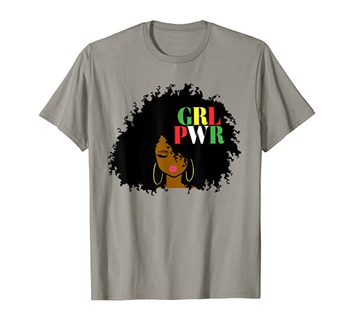 Mes de la Historia Negro 2021 Girl Power GRL PWR Chica Negra Magia Camiseta