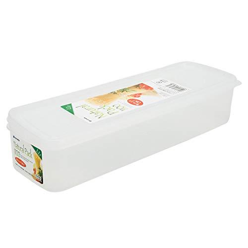 J+N NJ Aufbewahrungsbox- Haushalt Kunststoff Aufbewahrungsbox, Küche Kühlschrank Nudel Crisper Sealed Food Gefrorener Aufbewahrungsbox (Farbe : Klar, größe : 29x9.2x6cm)