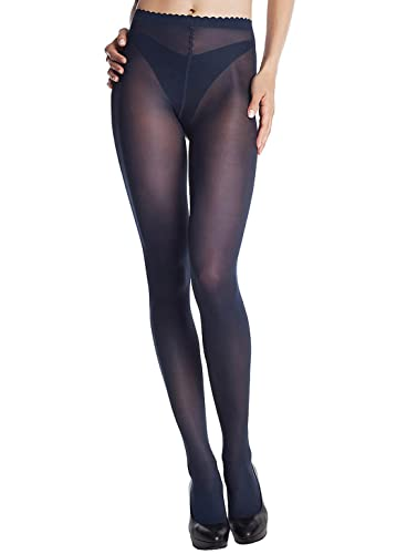 Dim Body Touch Panty Medias, opaco, Noir, 4 para Mujer