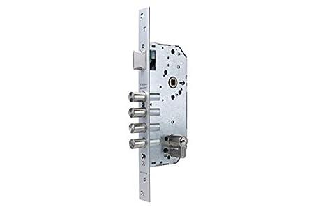 Tesa Assa Abloy 1 Cerradura Monopunto de Seguridad para Puertas de Madera, Latonado, Cil. 30x30mm