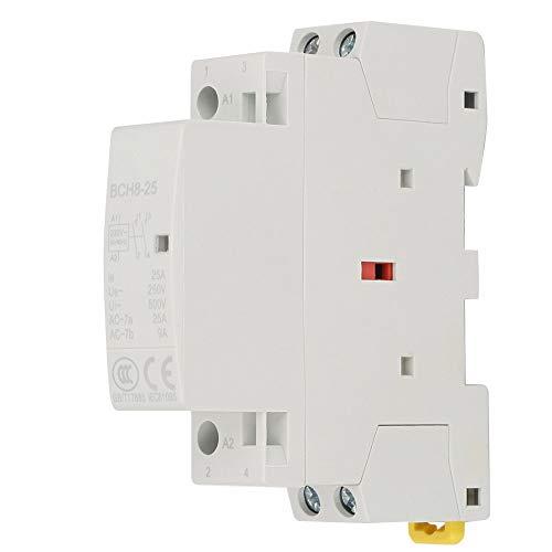 Contactor de AC de 2P 25A, contactor de AC de hogar de riel DIN 220V / 230V 2NO 50 / 60HZ