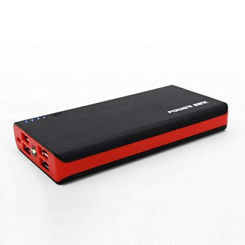 Carcasa de Banco de energía con Linterna LED 4 Puertos USB 5V 2A Carcasa de Cargador de Banco de energía Kits de Bricolaje alimentados por 6X 18650 baterías - Rojo