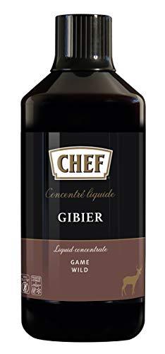 CHEF Flüssiges Konzentrat Wild, Geschmacksboost für Herzhafte Fleischgerichte, 100% Natürlicher Geschmack, 1er Pack (1 x 1L)