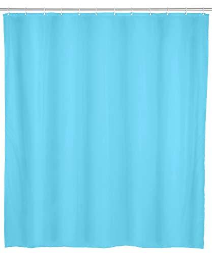 Allstar 23056100 Duschvorhang Zen, wasserabweisend, leicht zu pflegen, 120 x 200 cm, Blau