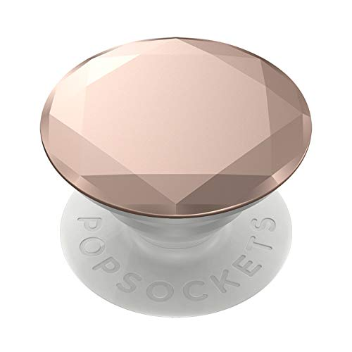 PopSockets PopGrip: Swappable Grip for Phones & Tablets - Metallic Diamond Rose Gold