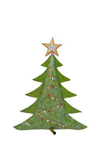 Dekofigur Tannenbaum, Metall, Weihnachten, Windlicht (M)