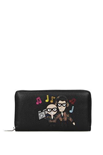Dolce&Gabbana portafoglio portamonete uomo in pelle bifold zip around patch stil