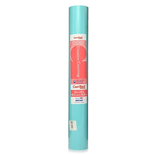 Con-Tact Brand Creative Covering Self-Adhesive Vinyl Drawer and Shelf Liner, 18 x 60, Teal,60F-C9A3W6-01