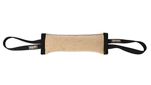 Dingo Gear Beisswurst aus Jute mit Zwei Halter 28 cm x 6 cm K9 IGP IPO Training mit Hund Apporte S00146