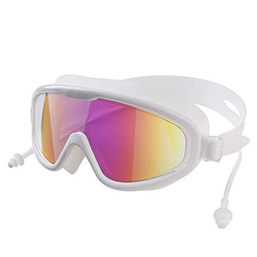 YOGA-YU Gafas De Silicona Gafas De NatacióN para Adultos Gafas De NatacióN De Aguas Termales A Prueba De Agua Y Antivaho HD Coloridas