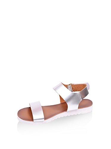 Noos Icon Damen Sandale, silberfarben, 38 EU