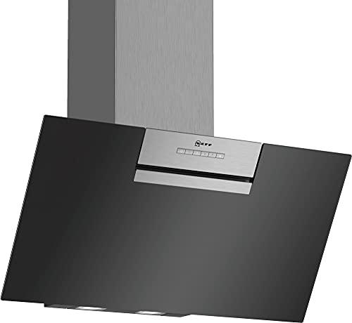NEFF D85IEE1S0 Dunstabzugshaube schräg N30 / 80cm / Abluft oder Umluft / Energieeffizienz B / Klarglas / schwarz