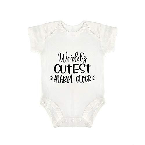 Promini Lindo Baby Onesie World's más lindo reloj de alarma 1 bebé mono bebé una pieza mameluco mejor regalo para bebé