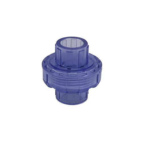 Racor union pvc 20 25 32 40 50 63mm enlace union piscina conexion conector pvc manguito union tubo pvc para filtro bomba (Diámetro Interno 40mm)