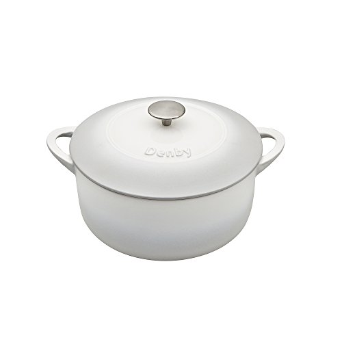 Denby 193048884 Natural Canvas Cast Iron 24Cm Round Casserole, 24 cm