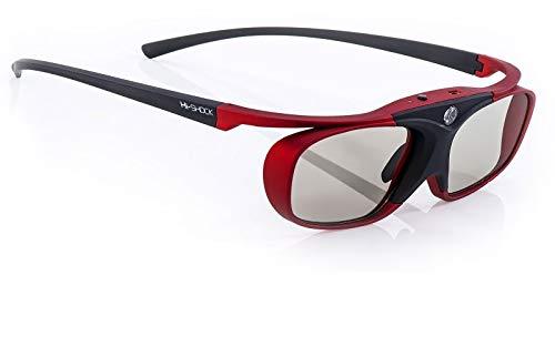 Hi-SHOCK BT Pro Scarlet Heaven | active 3D glasses for 3D TV by Sony, Samsung, Panasonic| compatible with SSG-3570CR / TDG-BT500A / AN3DG35 / TY-ER3D5ME [120 Hz | | rechargeable | Bluetooth]