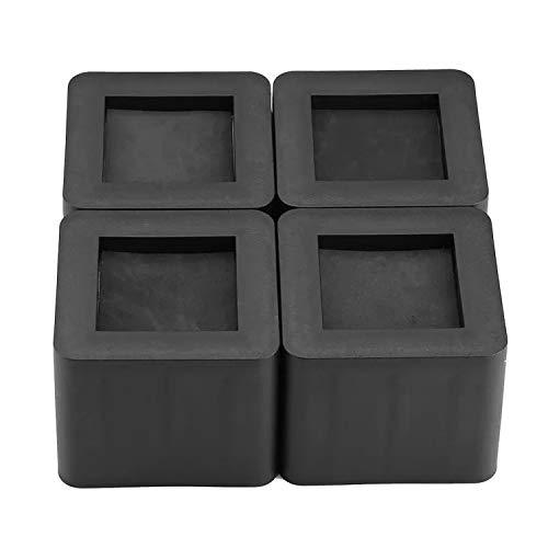 ZMYY Verstellbare Möbelerhöhungen, 4 Stück, schwarz, quadratisch, Elefantenfüße, Stuhlbeinerhöhung, Betterhöhung, Tischerhöhung, Stuhlerhöhung oder Sofa-Erhöhung