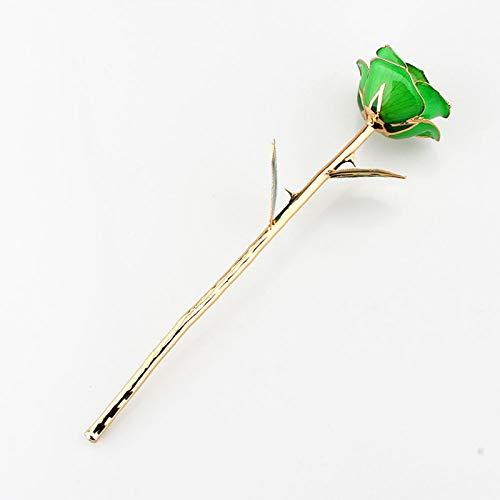 Rosa com haste longa mergulhada, flor de rosa real mergulhada, 11-12 polegadas folhas de rosa real para esposa amante da família Segredo do esmagamento