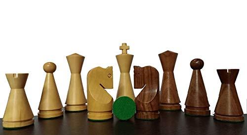 "Desconocido Generic Piezas de ajedrez Rusas ponderadas - Ajedrez Minimalista de Cono - Sheesham & Boxwood King 4.0 """