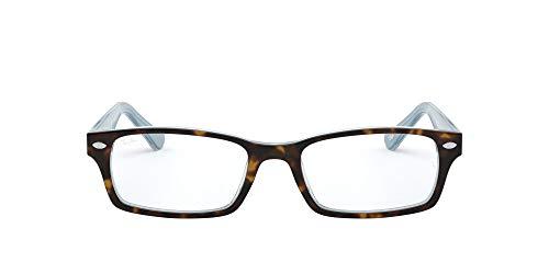Ray-Ban 0rx 5206 5023 54 Monturas de Gafas, Top Havana on TR Azure, Hombre