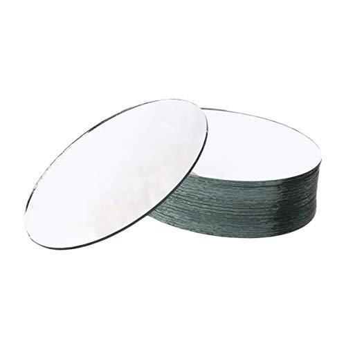 Healifty - Lote de 20 azulejos de espejo redondos para manualidades (estilo...