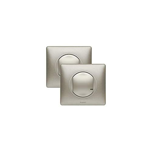 Listo para colocar – añadir un control para un interruptor variador – titanio – Legrand 067633