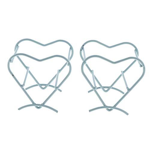 Fenteer 2pcs Porte-éponge de maquillage Forme Cœur 5.4 x 5cm - Bleu