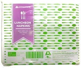 LIVINGSTONE LUNCHEON NAPKINS 1-PLY 30X30CM WHITE 500/PK