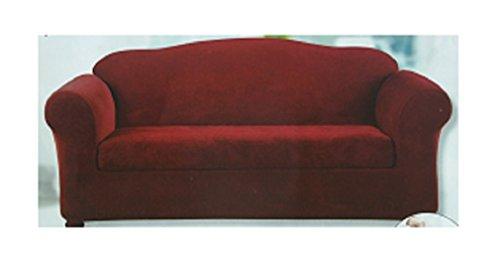 Sure Fit 2 Piece Stretch SlipCover Sofa Garnet