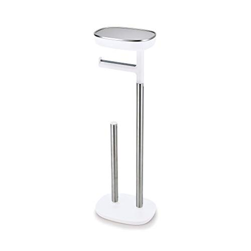 Joseph Joseph 70518 Bathroom Easy Store Standing Toilet Paper Holder, Stainless Steel