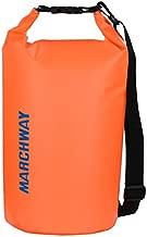 Floating Waterproof Dry Bag Backpack 5L/10L/20L/30L/40L, Roll Top Dry Sack Pack for Marine Canoe River Kayaking Rafting Boating Swimming Camping Hiking Beach Fishing Sailing Paddling (Orange, 10L)