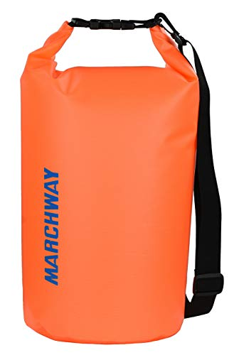 Floating Waterproof Dry Bag Backpack 5L/10L/20L/30L/40L, Roll Top Dry Sack Pack for Marine Canoe River Kayaking Rafting Boating Swimming Camping Hiking Beach Fishing Sailing Paddling (Orange, 10L)