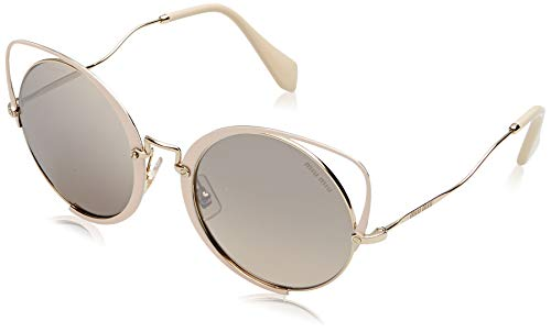 Miu Miu MU51TS 4UD085 Pale Gold/Glitter Peach MU51TS Cats Eyes Sunglasses Len