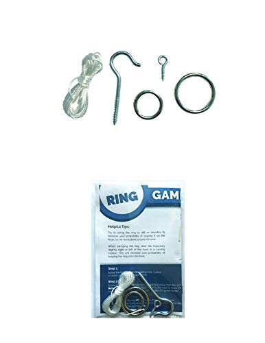 HTX Games DIY Hook and Ring Game Hardware Set - 2 Size Rings for Increased Challenge and Fun! Indoor and Outdoor Hook and Ring Toss Game (Hardware Only)
