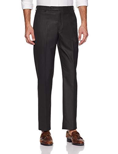 Park Avenue Men's Relaxed Fit Formal Trousers (PMTX05497-K8_Black_76)