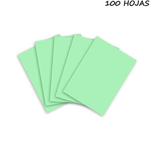 Quijote Paper World Cartulinas de Color, Cartulinas A4, Grosor 180g/m², 100 Hojas para Impresión, Fotocpiadora, Cortar y Pegar, etc. Verde Manzana