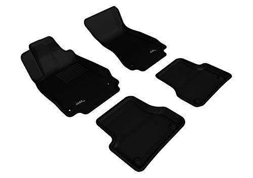 3D MAXpider Complete Set Custom Fit All-Weather Floor Mat for Select Audi A7 Models - Kagu Rubber (Black)