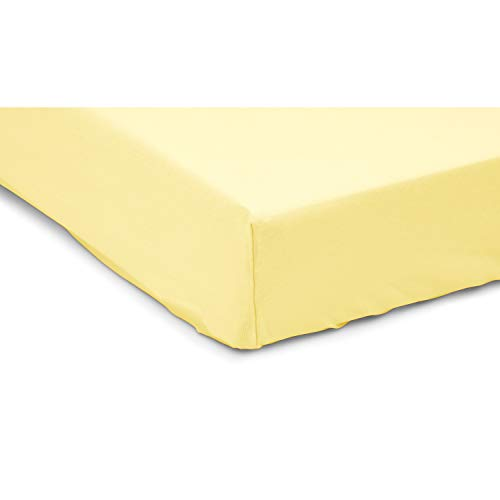 Soft Baby Custom Crib Sheet - Washable Breathable Cotton Blend Toddler and Baby Sheet - Fits Any Size Crib Mattress - Yellow