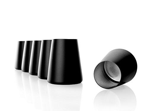 Stölzle Lausitz Becher Power, 380 ml, 6er Set in schwarz (matt) und Silber, universell einsetzbar, für Wasser, Säfte, Wein, spülmaschinenfest, mit organischen Farben besprüht