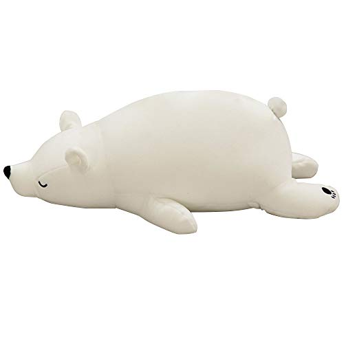 VKTY Hug Pillow Toy - Cojín de peluche para decoración del hogar, diseño de oso polar, color blanco, 76 cm de largo