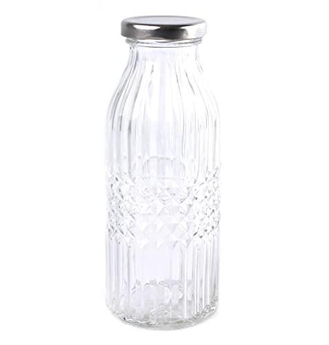 Glass 400ml Storage Preserve Bottle with Screw Cap Top (1)