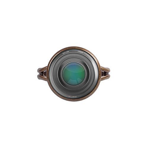 Mylery Bague avec Motif lentille Reflex numérique lentille Appareil Photo numérique Bronze 14mm