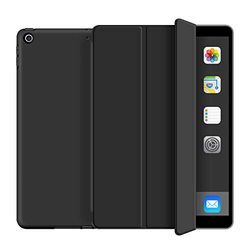 KenKe iPad 2017/2018 Case 9.7,Ultra Slim Lightweight Smart Case TPU Soft Silicone Stand with Auto Sleep/Wake for iPad Cover 9.7 inch iPad 5th/6th Generation A1822, A1823,A1893,A1954-Black