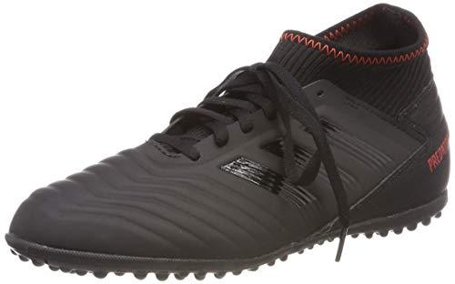adidas Predator 19.3 Tf J, Scarpe da Calcio Unisex-Bambini, Multicolore (Negbás/Negbás/Rojact 000), 36 EU