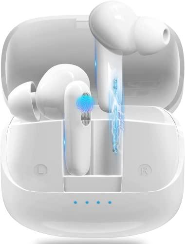 Auriculares Bluetooth, Auriculares Inalámbricos 5.1 HiFi Estéreo, Wireless Earbuds, Auriculares In Ear con Control Táctil, Sonido Premium con HD Mic, Caja de Carga rápida, Reproducci 30 Horas