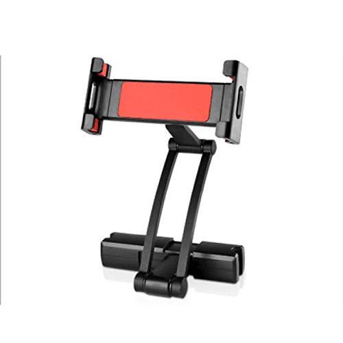 DJXM Car Tablet Computer Frame Smartphone 360 Degree Rotation 6-10 Inches Foripad 2/3/4 Air'car Rear Seat Pillow Steam Rear Seat Armrest Bracket Pc Red