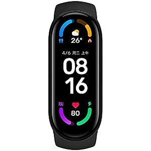 Xiaomi Mi Band 6 pantalla de 1.56 pulgadas, pulsera inteligente con indicación de nivel de oxígeno en sangre, seguimiento de actividad, monitoreo de ritmo cardíaco, Bluetooth - pulsera inteligente