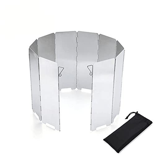 Jiaojie Portable Aluminum Alloy Outdoor Windshield Lightweight Foldable Wind Protection for Camping Stove Outdoor Grill